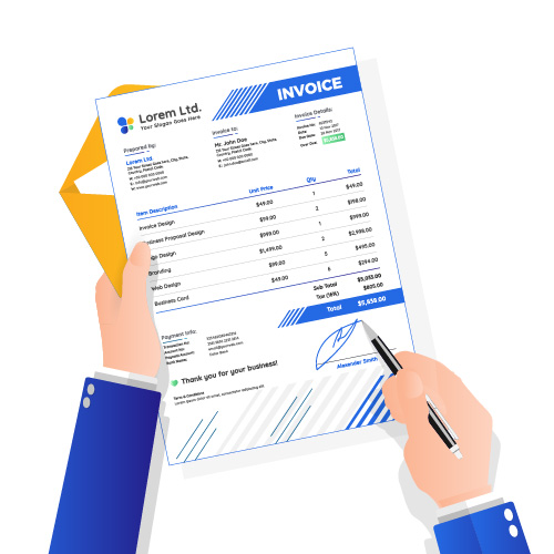 print and mail invoice